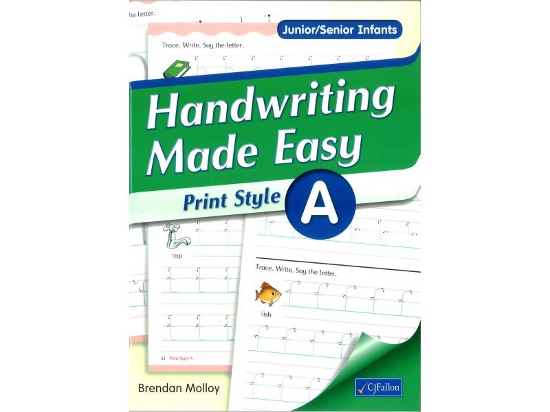 Handwriting Made Easy A - Print Style - Junior & Senior Infants
