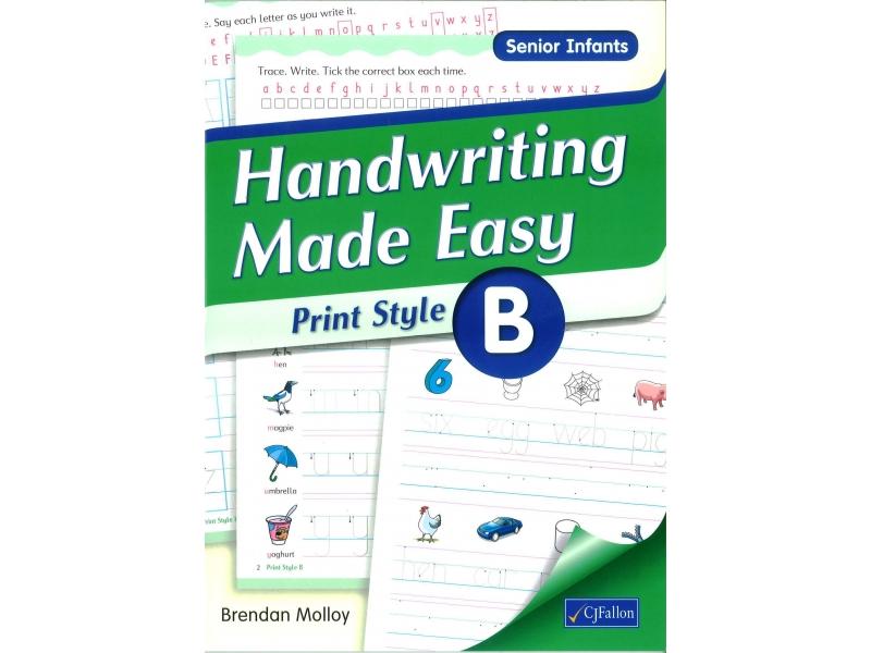 Handwriting Made Easy B - Print Style - Senior Infants
