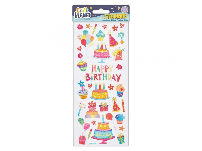 Craft Planet - Fun Stickers Happy Birthday