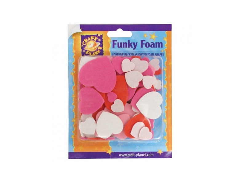 Craft Planet - Self Adhesive Funky Foam Hearts