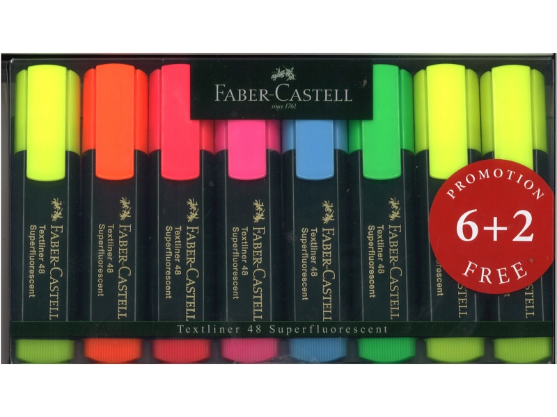Faber-Castell Hi-Lighters 8 Pack