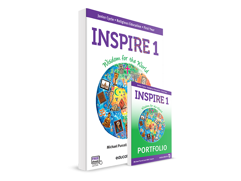 Inspire 1 Pack - Textbook & Portfolio Book - Junior Cycle Religion