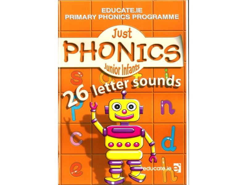 Just Phonics Junior Infants Pack - 26 Letter Sounds - Workbook & Sounds Booklet