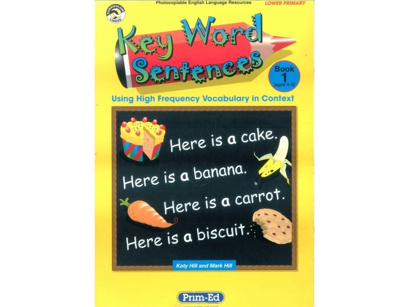 Key Word Sentences Book 1 - Ages 4-5