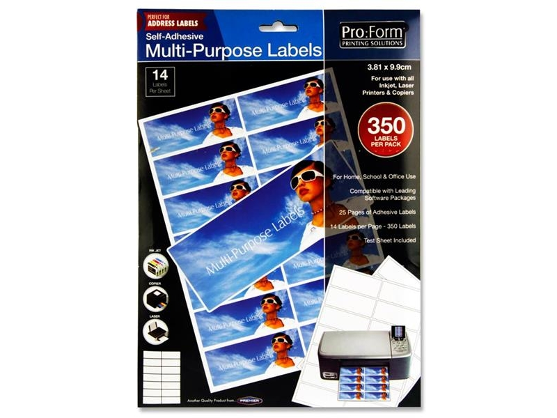 Computer Labels 14 Per Sheet 99.1mmx38.1mm - 350 per Pack