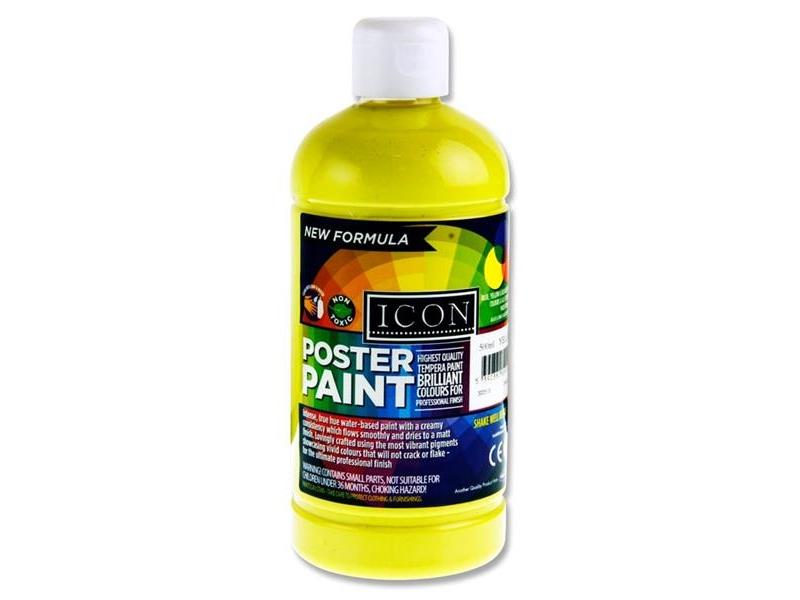 Poster Paint Lemon Yellow 500ml