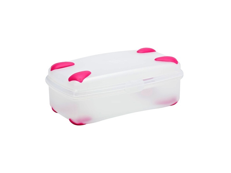 Lunch Box 200x135x115mm - Lunch Box 2 With Compartment On Top - Assorted Colours