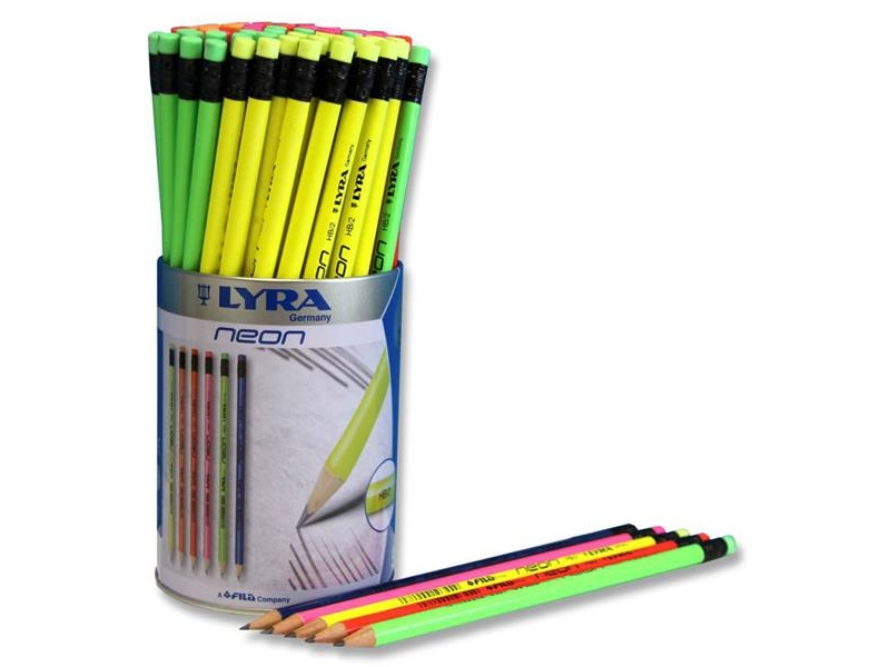 Lyra Neon HB Rubber Tipped Pencil - Assorted Colours - Single Sale