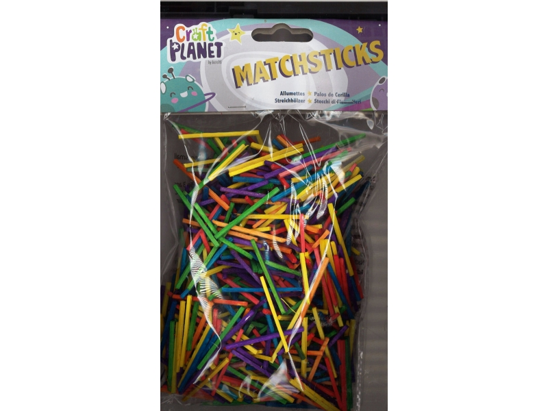 Match sticks assorted colours 500 pack