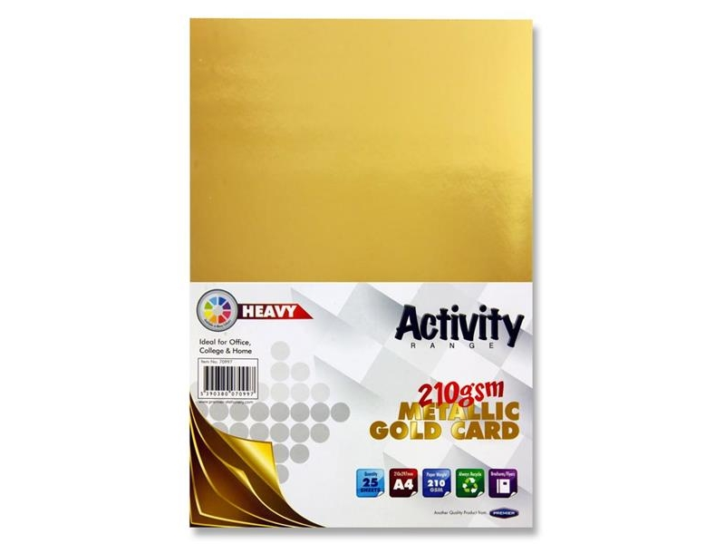 Metallic Gold Card A4 25 pack 160gsm