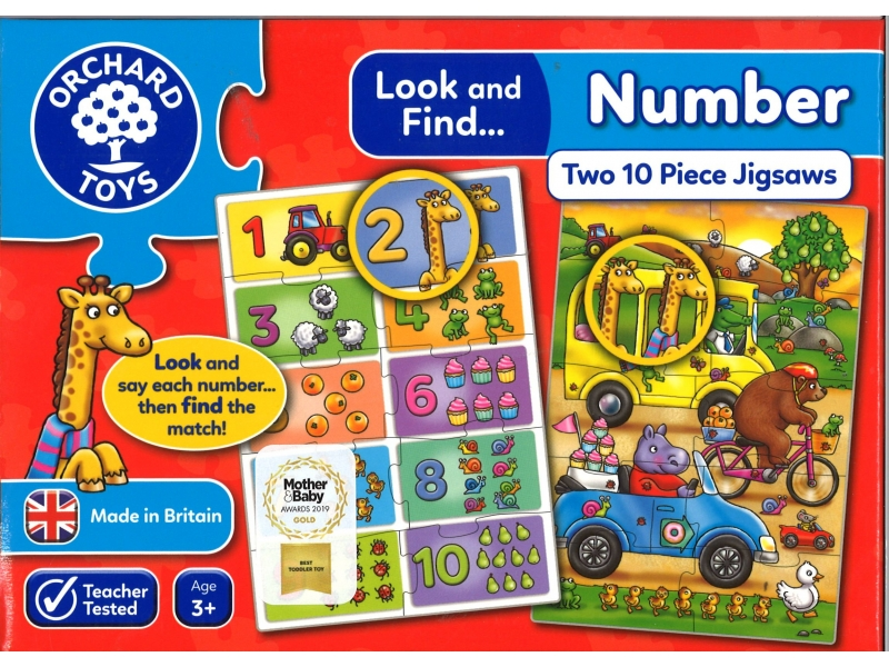 Number Two Piece Jigsaws