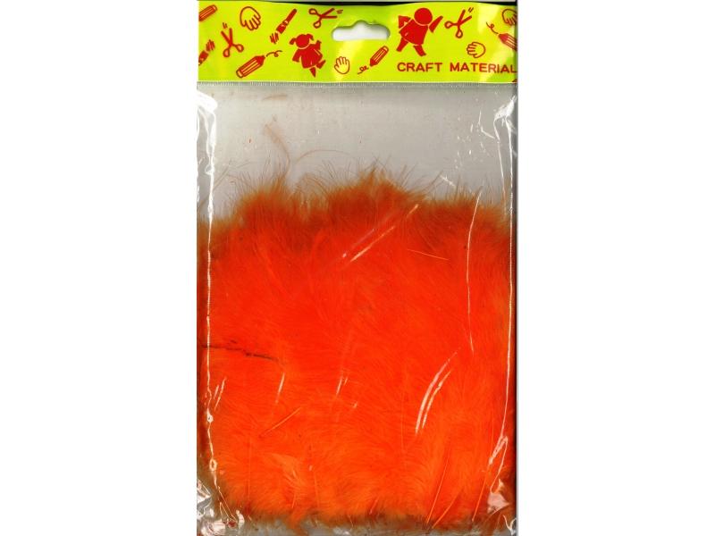 Feathers 7cm 200's Orange