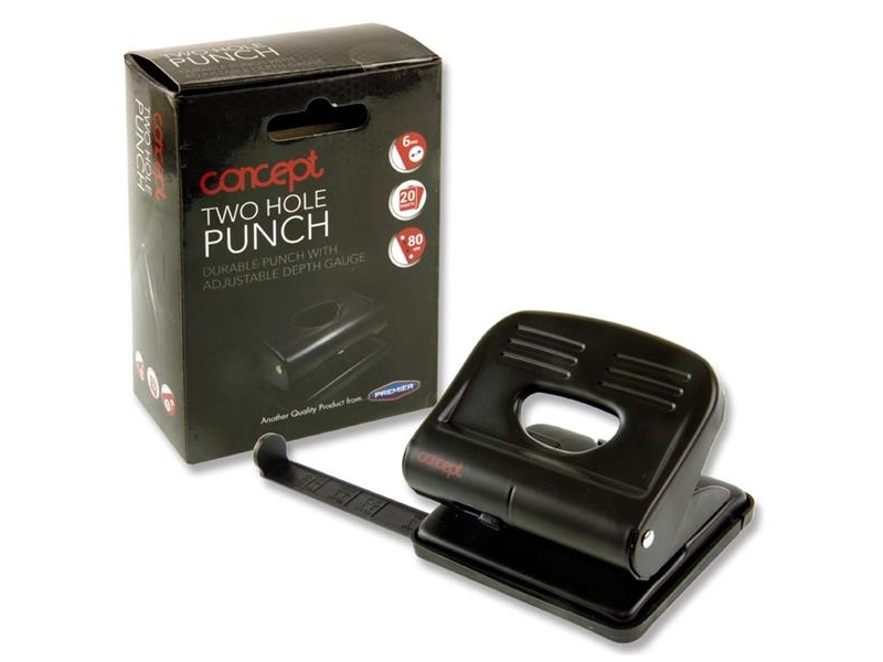 Concept - Metal Paper Punch With Guide - 2 Hole