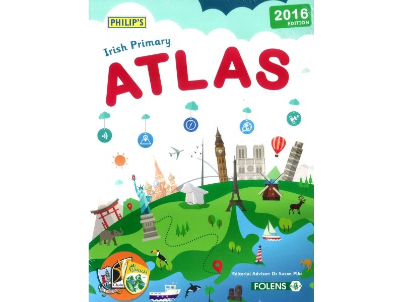 Philips New Irish Primary Atlas Pack - Atlas & Atlas Hunt