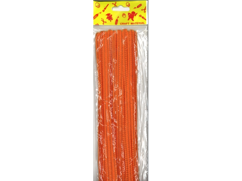 Pipe Cleaners 30cm 25's - Orange