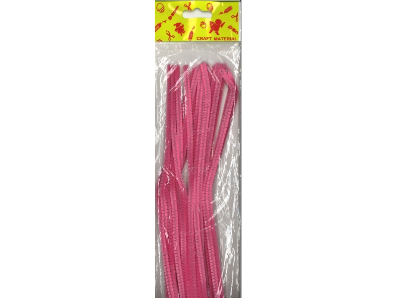Pipe Cleaners 30cm 25's - Pink