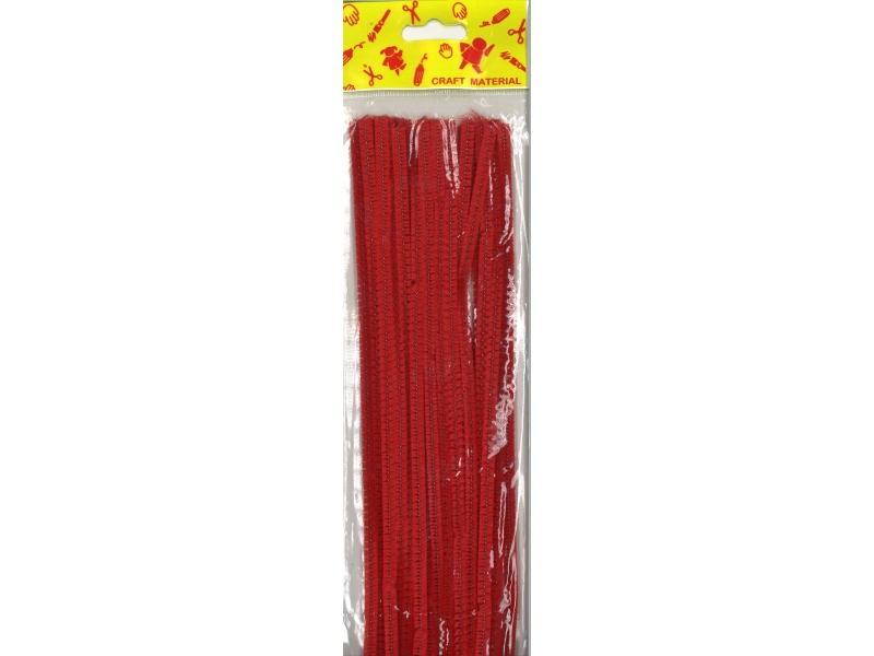 Pipe Cleaners 30cm 25's - Red