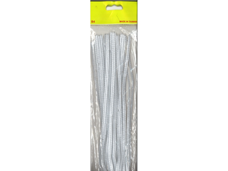 Pipe Cleaners 30cm 25's - White