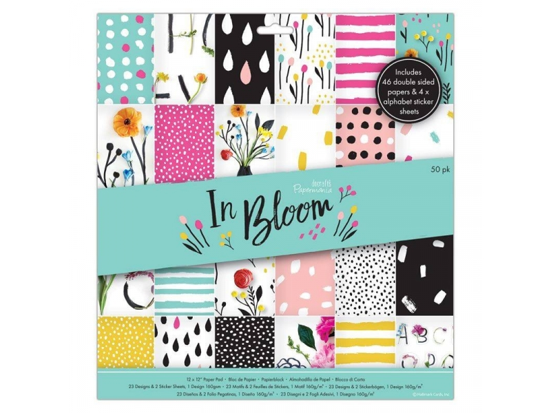 Papermania - 12x12 Paper Pack In Bloom 50pk