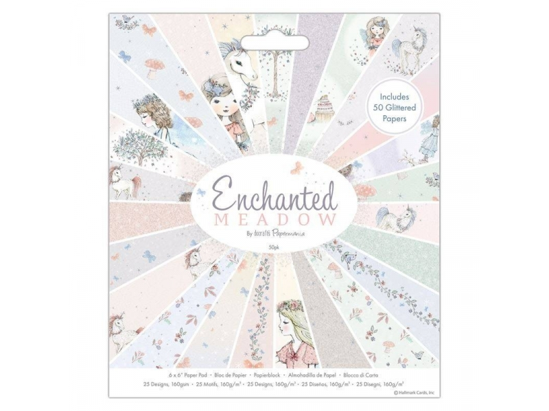 Papermate - 6x6 Paper Pad Enchanted Meadow 50pk