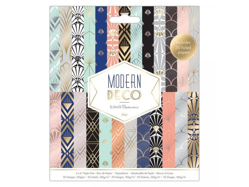 Papermania - 6x6 Paper Pack Modern Deco 50pk