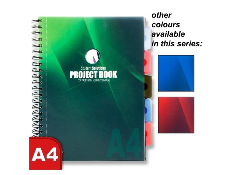 Project Book A4 With 5 Dividers
