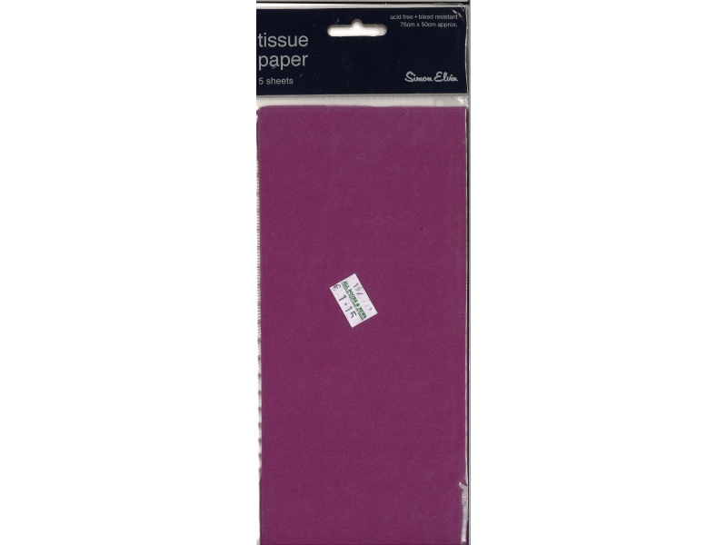 Tissue Paper 5 Sheets - Purple