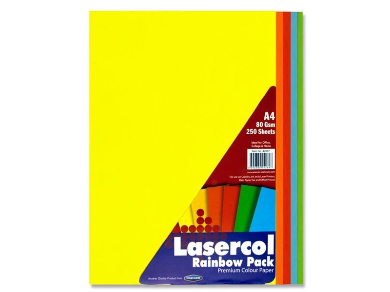 Rainbow Colour Paper A4 250 Pack 80gsm