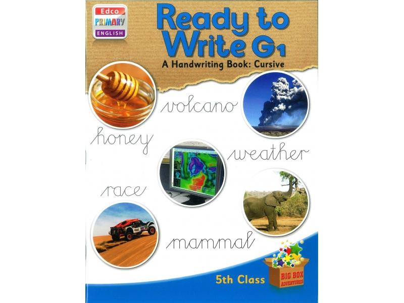 Ready To Write G1 - A Handwriting Book: Cursive - Big Box Adventures - Fifth Class