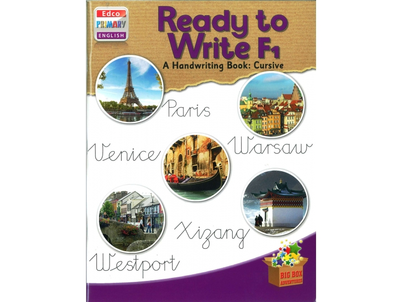 Ready To Write F1 - A Handwriting Book: Cursive - Big Box Adventures - Fourth Class
