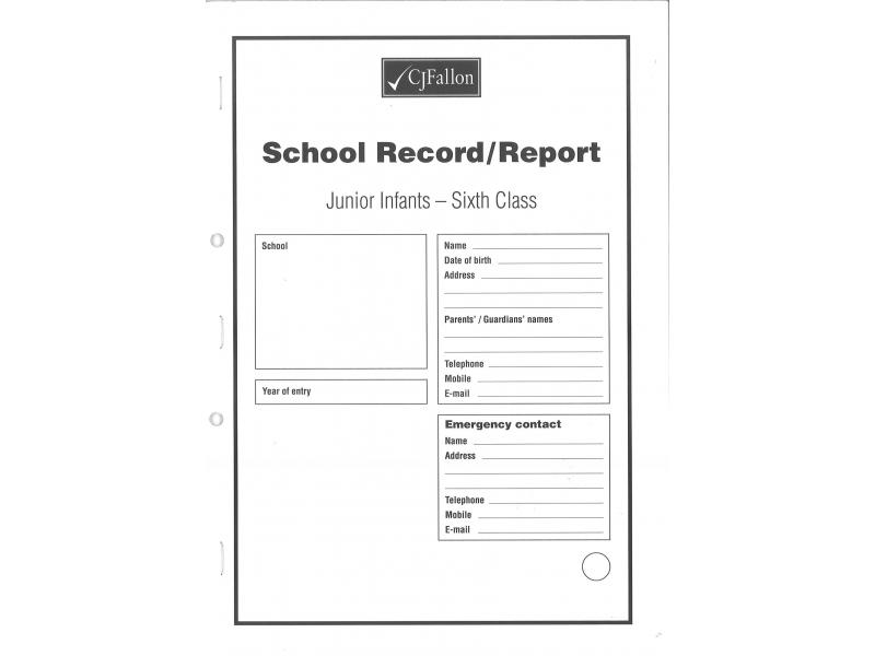 Report Card Junior Infants-6th Class - Cj Fallon