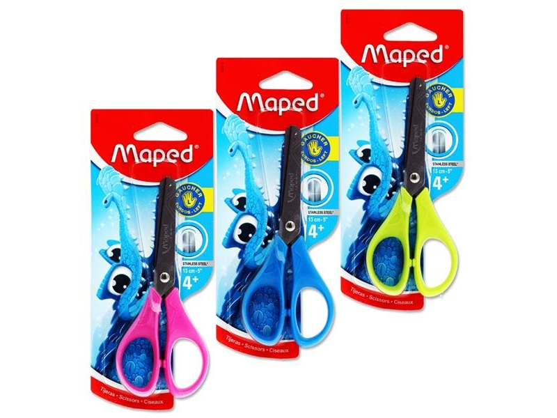 "Maped Scissors - Left Handed - 13cm/5"" Pastel Colours"