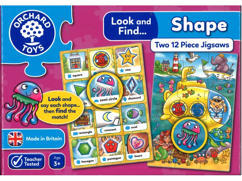 Shape Two Piece Jigsaws