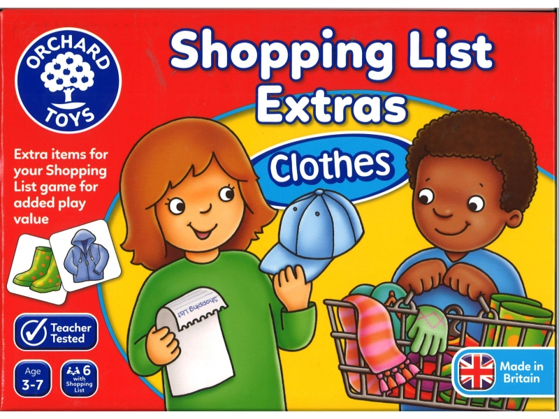 Shopping list clothes