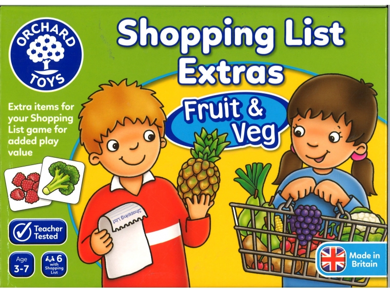 Shoppin list fruit/veg