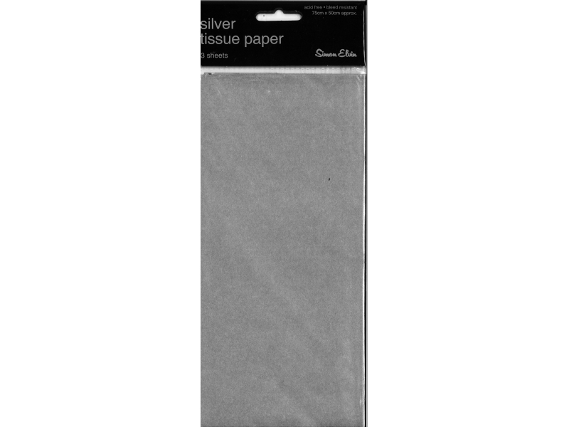 Tissue Paper 3 Sheets - Silver