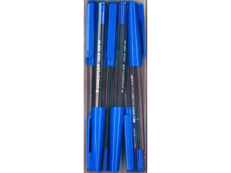 Staedtler Stick Pen - 6 Pack - Blue