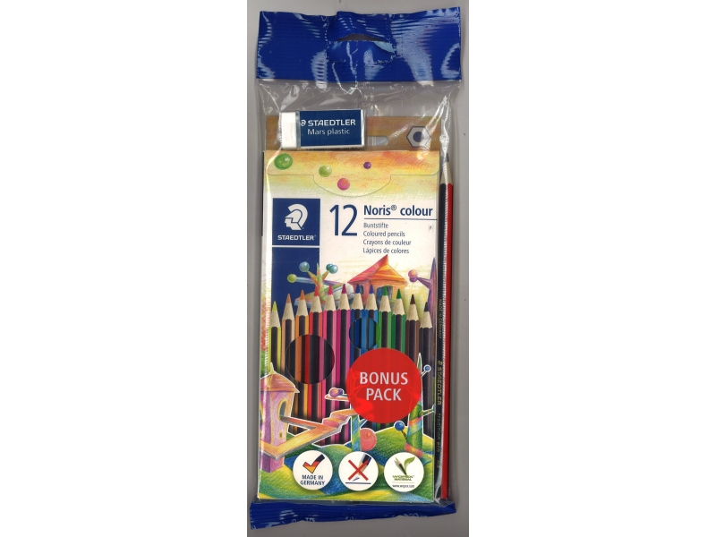 Staedtler Colouring Pencils 12 Pack - Includes Pencil & Eraser