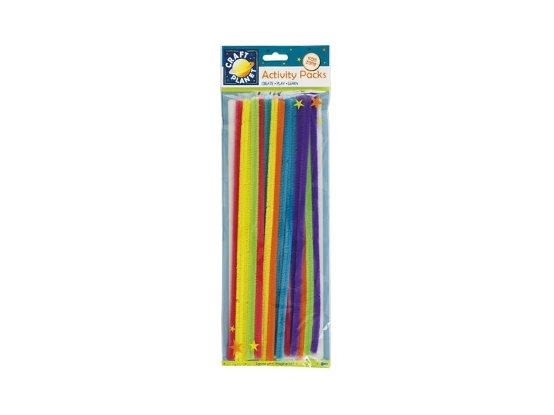 Craft Planet - Chenille Neon Stems 20pk 300mm