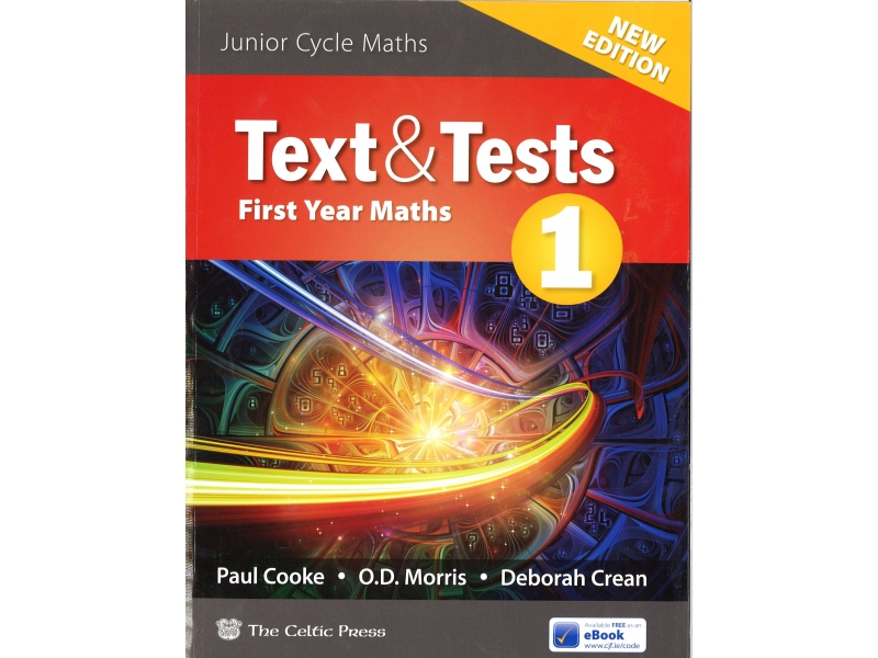 Text & Tests 1 - Junior Cycle First Year Maths - Includes Free eBook - 2nd Edition