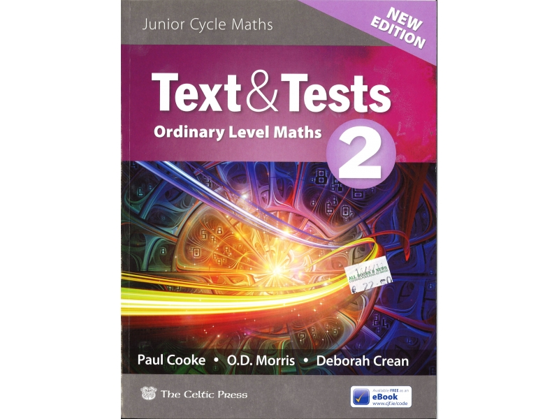 Text & Tests 2 - Ordinary Level Maths - 2019 Edition - Includes Free eBook