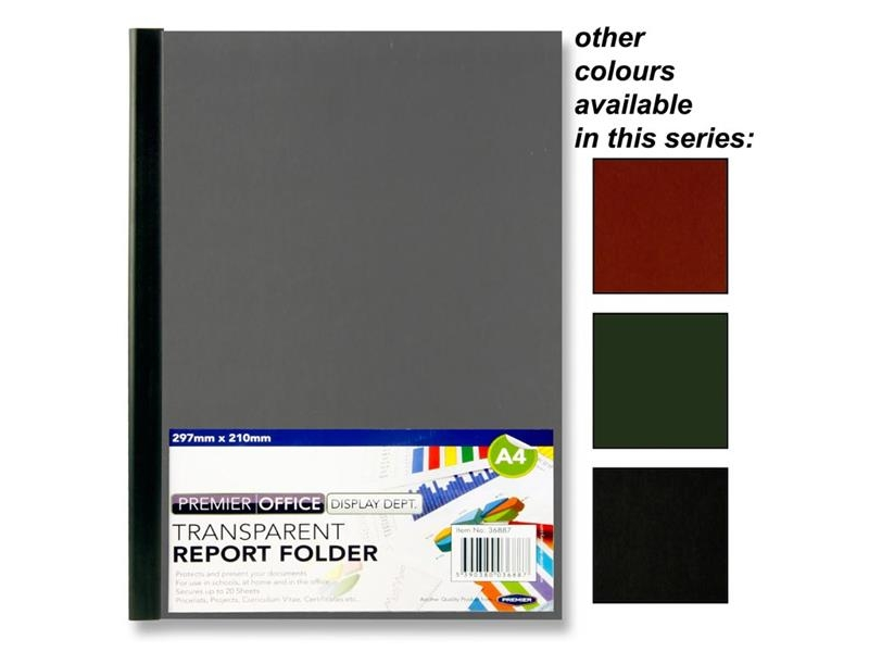 Transparent Report Folder A4 - Assorted Colours
