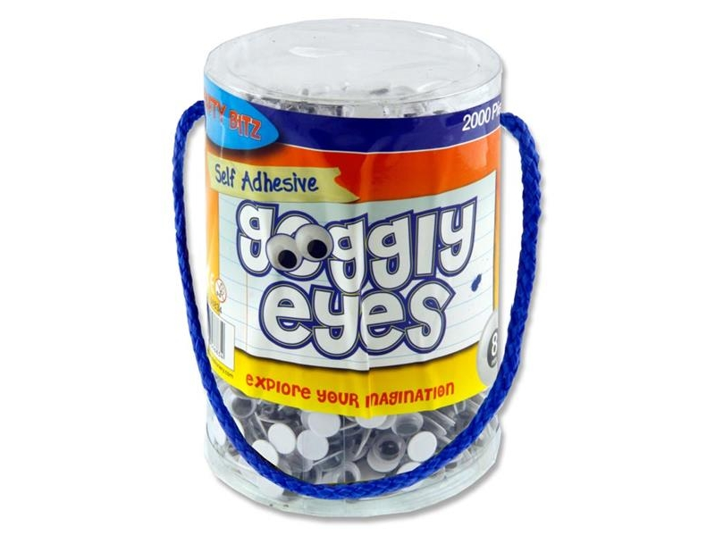 Wiggly Eyes 2000 Tub 8mm