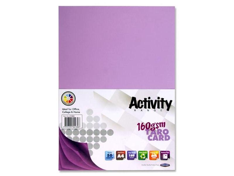 Violet Card (Taro) A4 50 Pack - 160gsm