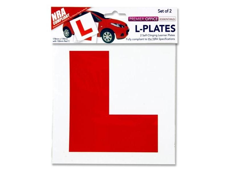 L - Plates 2 Pack