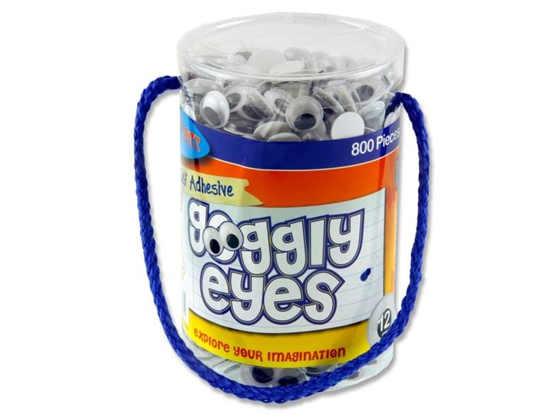 Wiggly Eyes 800 Tub 12mm