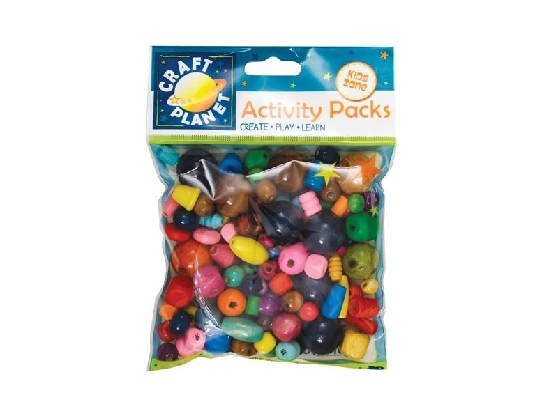 Craft Planet - Wooden Beads Assorted Colours
