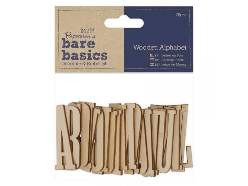 Papermania - Wooden Alphabet 26pcs