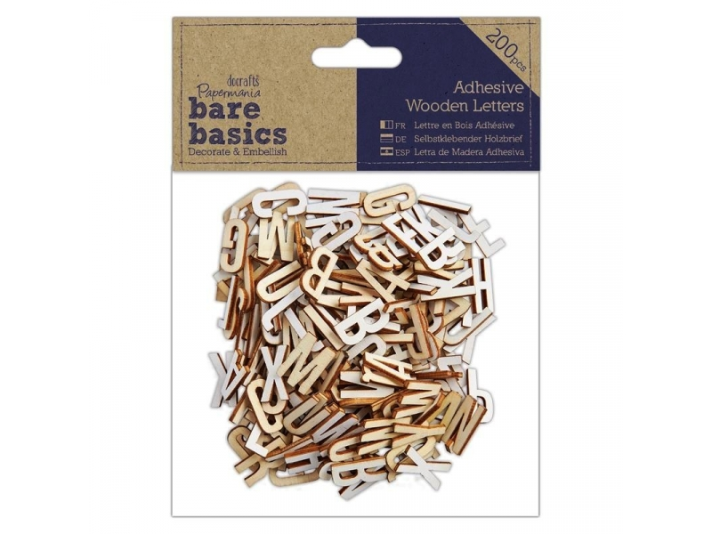Papermania - Adhesive Wooden Letters 200pcs