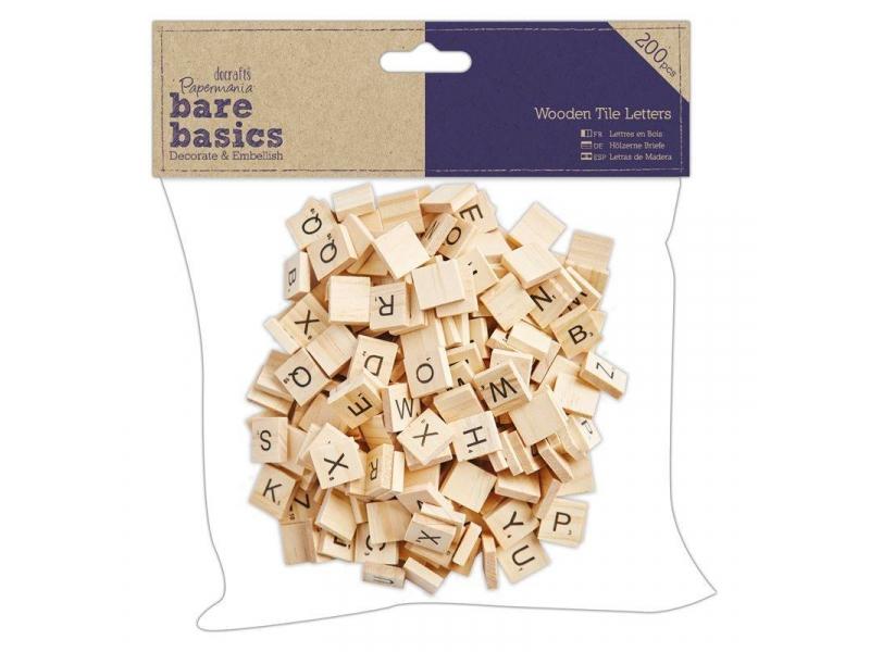 Papermania - Wooden Tile Letters 200pcs